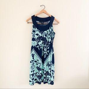 Enfocus Studio Blue Floral Sleeveless Mini Dress